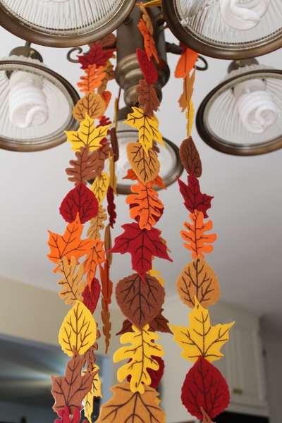 Fall Felt Leaf Garland At Crafts Unleashed The Country