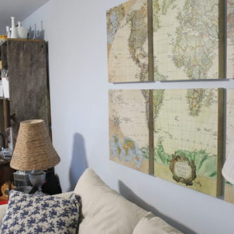 Family Room Evolution with MAPS and @worldmarket #worldmarket_hgtv