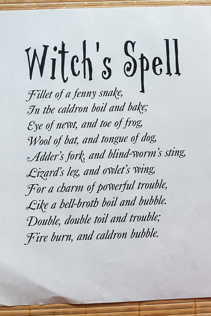 free printable spell book page