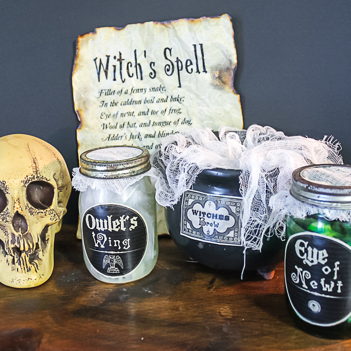 witch's spell printable for halloween