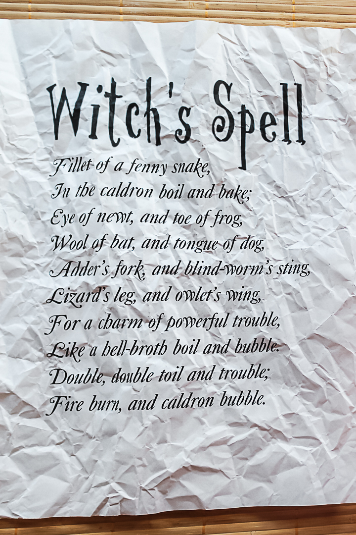 macbeth witch's spell printable