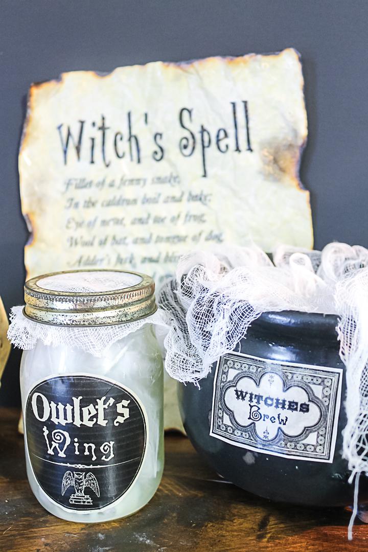 witch's brew halloween decor