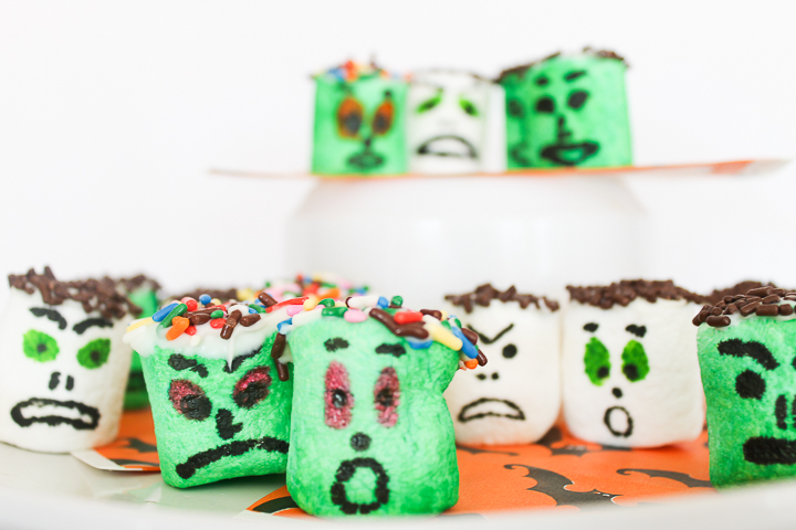 easy monster halloween marshmallows