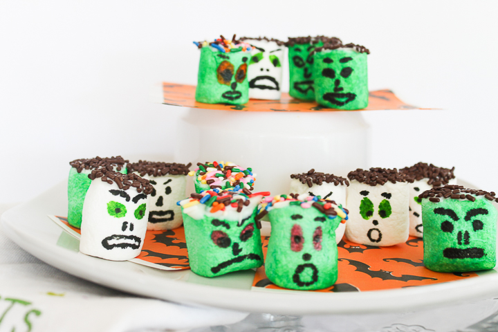 monster marshmallows for halloween
