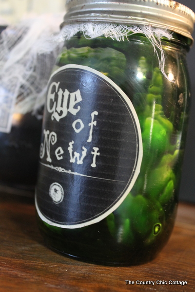 eye of newt mason jar