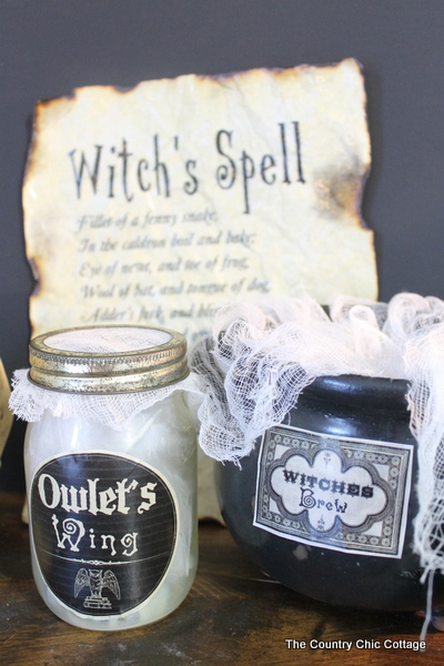 witch's spell halloween decor