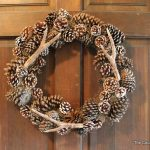 pottery barn knock off faux antler wreath-013