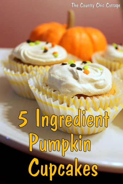 5 ingredient pumpkin cupcakes