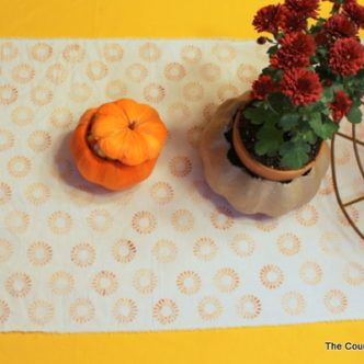 Button Stamped Table Runner