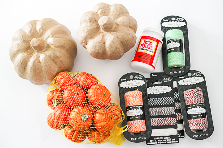 supplies to make fall pumpkins