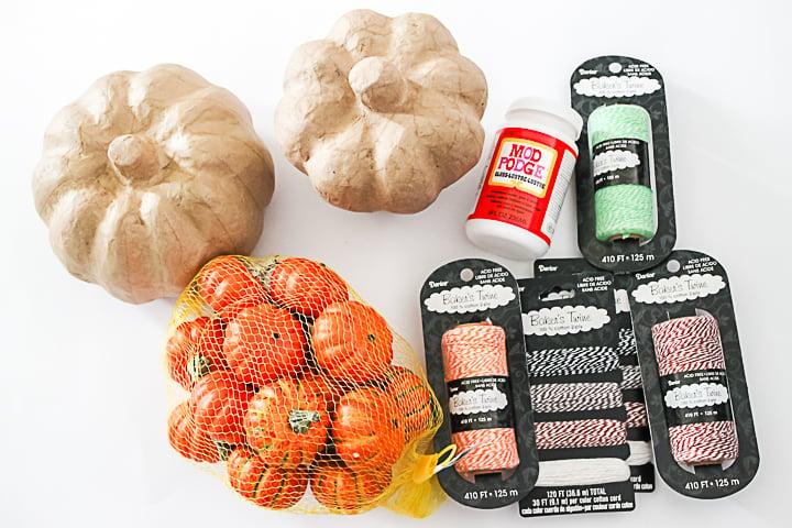 supplies to make fall pumpkins