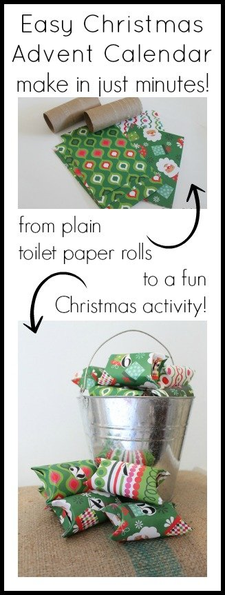 Turn toilet paper rolls into an advent calendar in minutes!