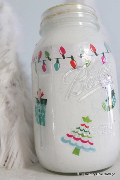 Christmas Mason Jar The Country Chic Cottage
