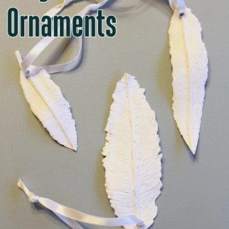 Clay Feather Ornaments Ballard Knock Off