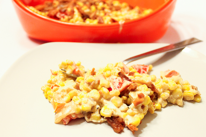 casserole with corn
