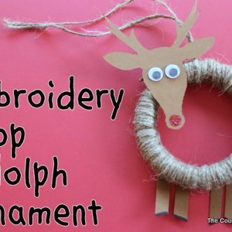 Positively Splendid Guest — Embroidery Hoop Rudolph Ornament
