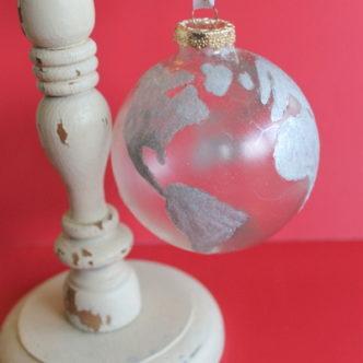 Glitter Globe Ornament — Pottery Barn Knock Off