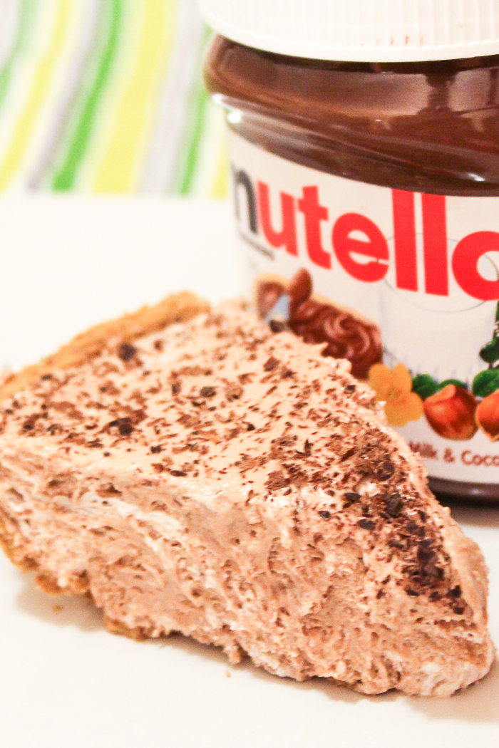 A delectable Nutella pie that you will love!