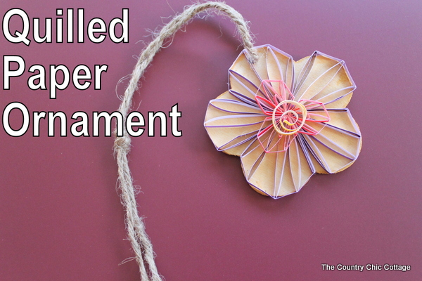 quilled paper ornament