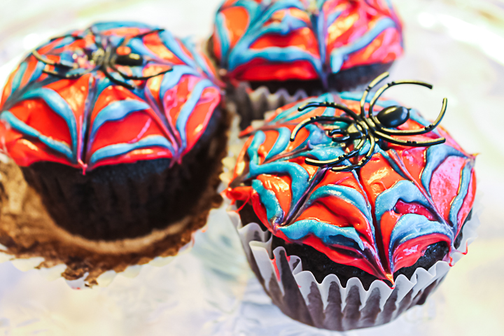 spider on a cupcake