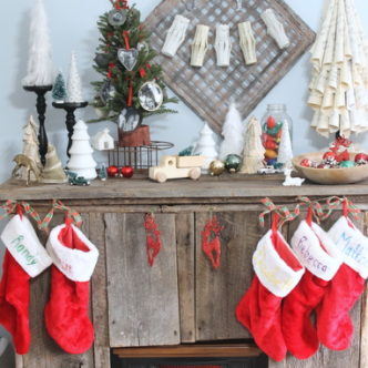 My Barnwood Christmas Mantel