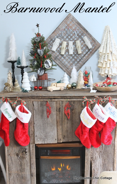 My Barnwood Christmas Mantel The Country Chic Cottage