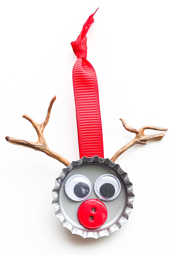 bottle cap reindeer