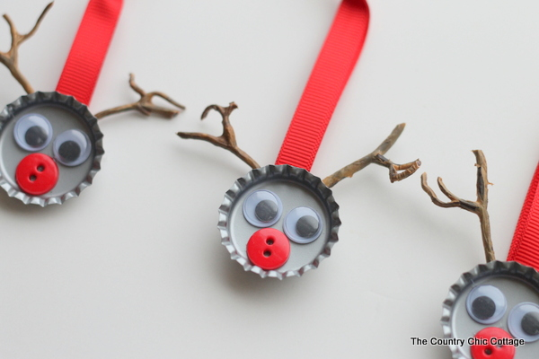Bottle Cap Reindeer Kids Craft The Country Chic Cottage
