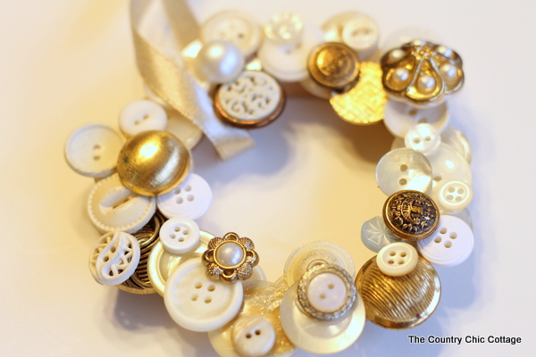 Button Wreath Ornament The Country Chic Cottage