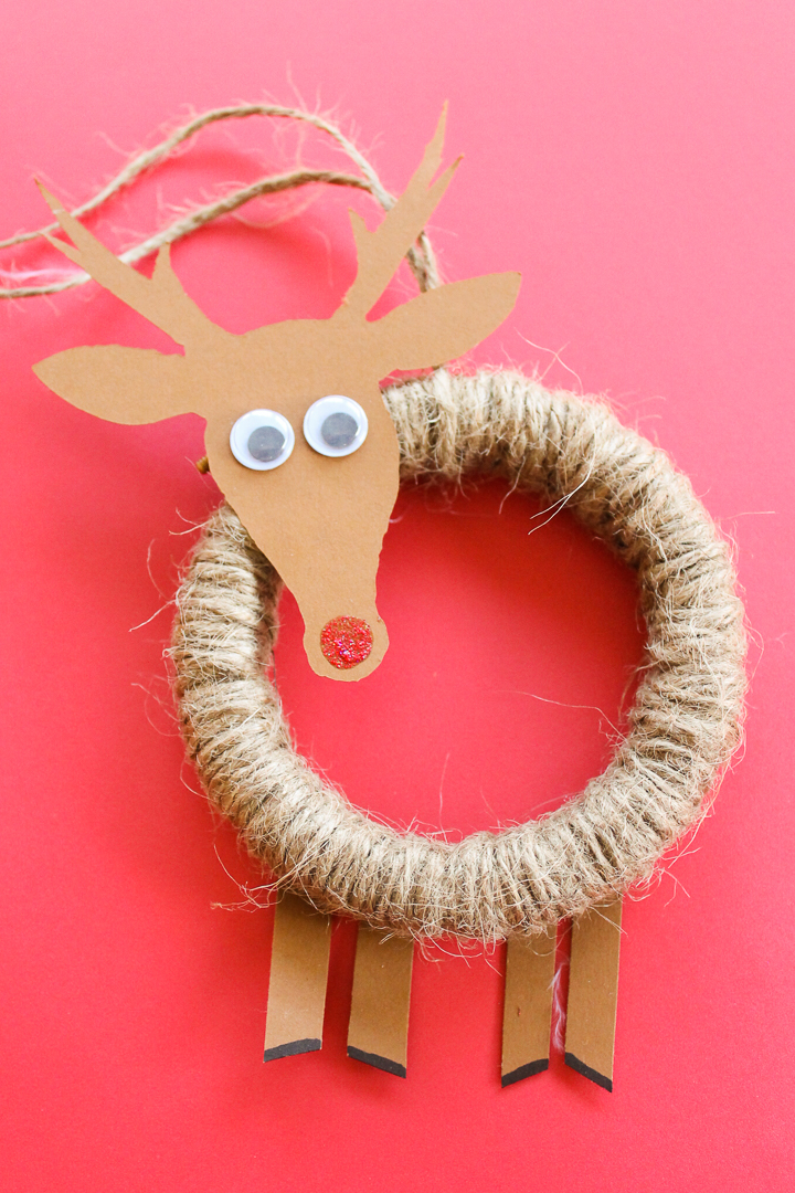 making a diy rudolph ornament