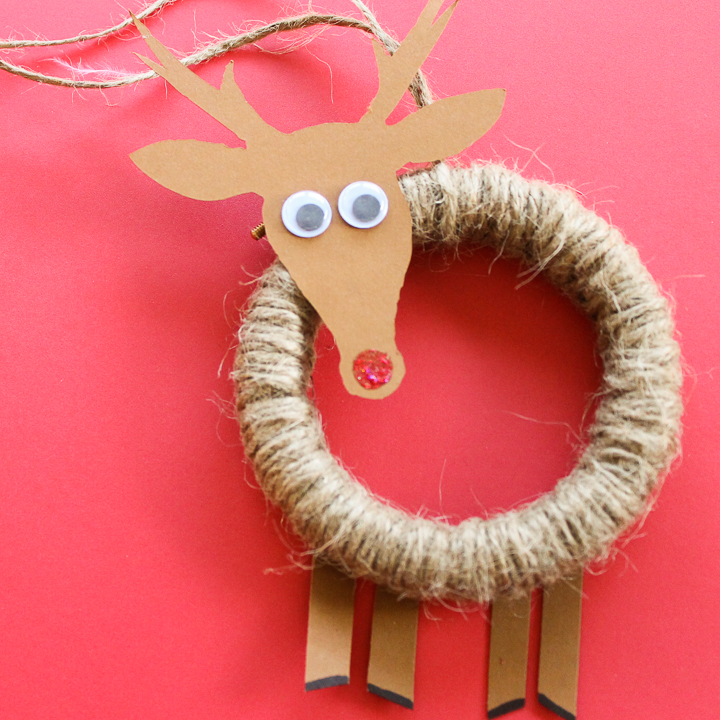 how to make a rudolph ornament