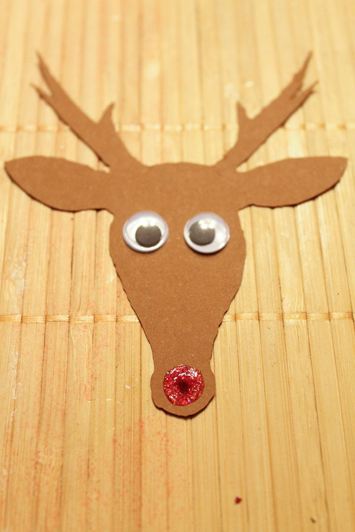 rudolph head made from paper
