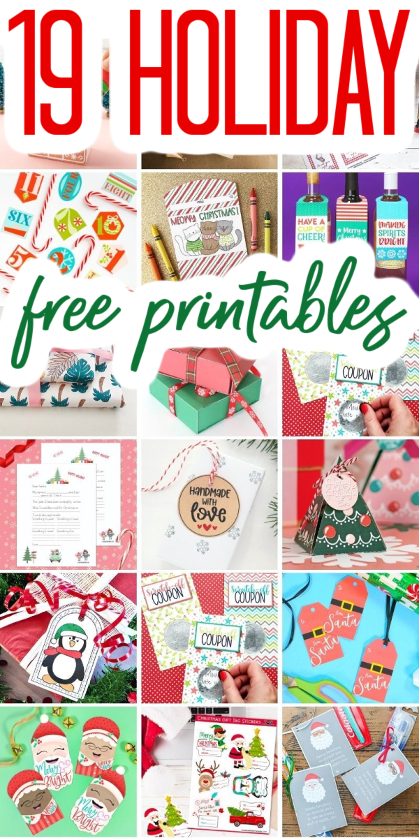 holiday free printables
