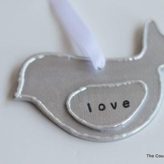 DIY Love Bird Ornament