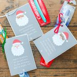Printable Santa Tags for a Toothbrush Stocking Stuffer