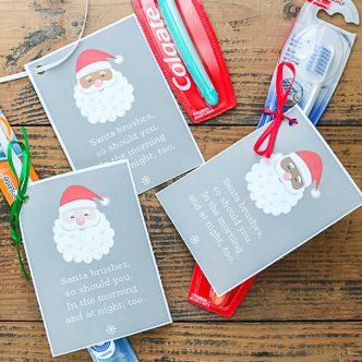 gift tags with santa