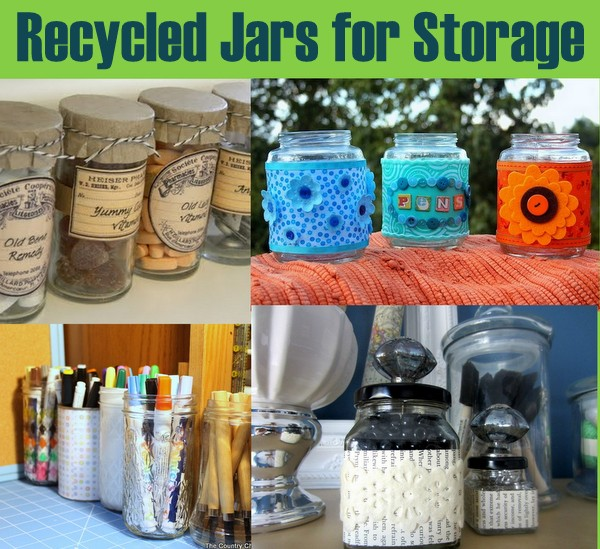 20 Recycling Ideas For Home Decor: 20 Plus Recycled Storage Solutions