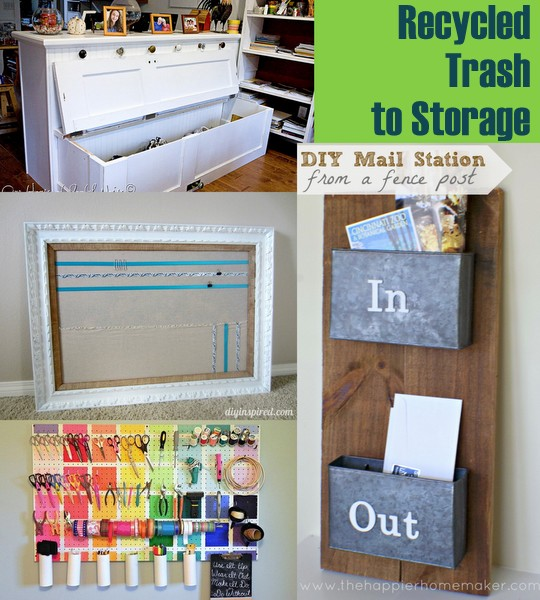 & 20 Plus Recycled Storage Solutions - The Country Chic Cottage