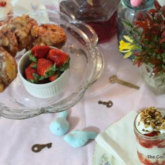 Breakfast for Two Vintage Tablescape with @MollAnderson #seductivetables #cbias