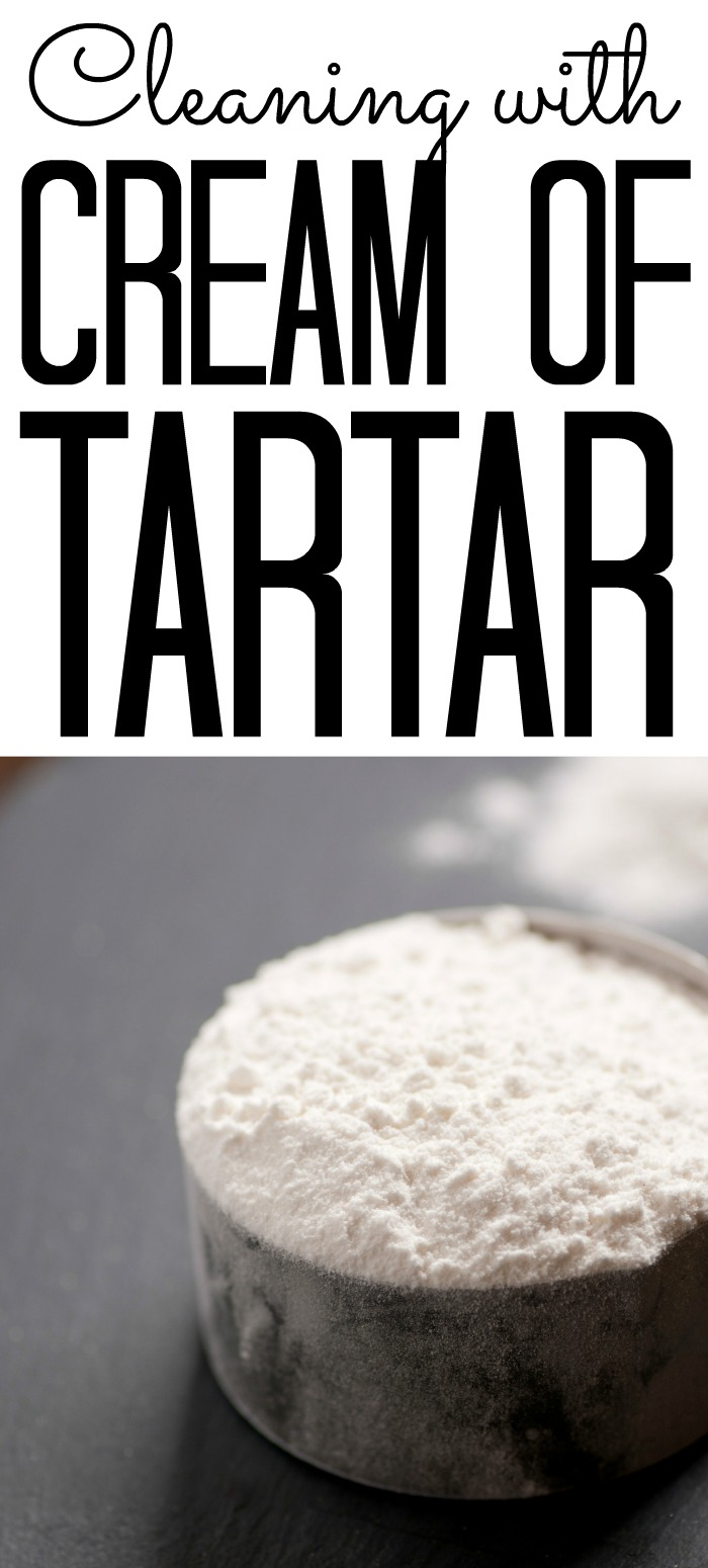 Learn 25 ways to clean with cream of tartar around your home! All natural cleaning is as close as your spice cabinet! #clean #cleaning #allnatural