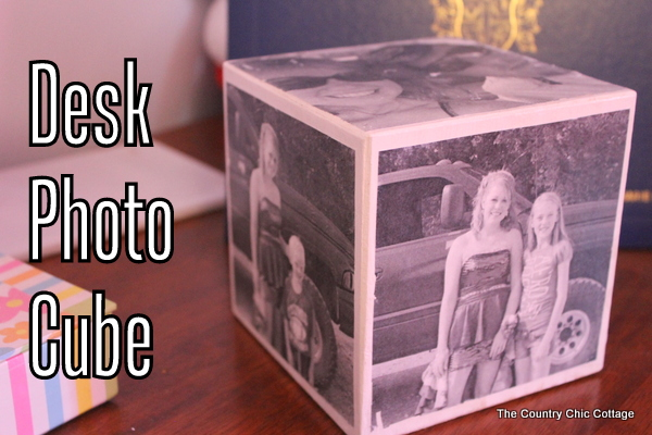 DIY photo cube image