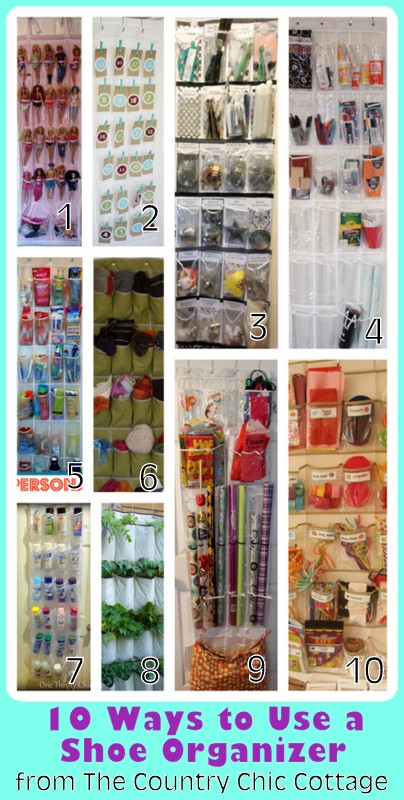 Organization 10 Ways To Use A Shoe Organizer The Country Chic Cottage