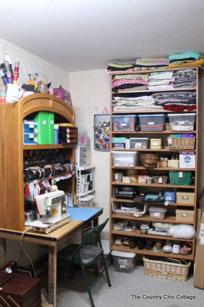 My Organized Craft Area The Country Chic Cottage