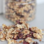 white chocolate cranberry granola
