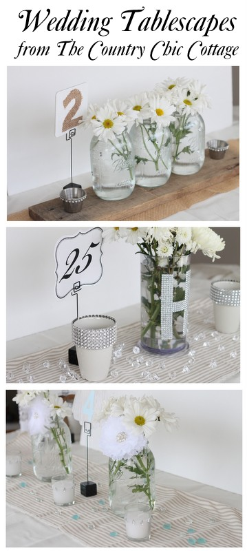 Wedding ideas reception table decor with davidtuteradiy the so full of bling yet i added some rustic touches the bling candle holders table numbers and the vases all have tutorials so you can make your own junglespirit