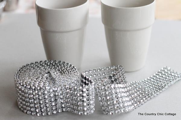 DIY Wedding Ideas -- Bling Candle Holders 3 Ways