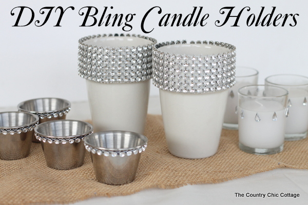 diy wedding ideas bling candle holders 3 ways - Diy Candle Holders