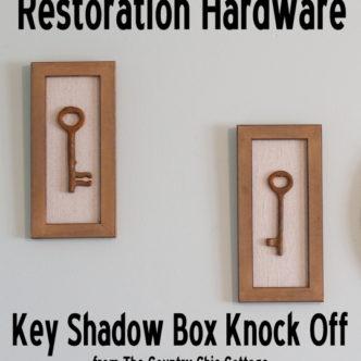 Restoration Hardware Key Shadow Box Knock Off