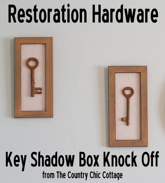 restoration hardware key shadow box knock off