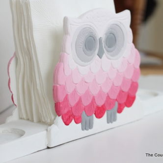 Ombre Owl Napkin Holder with @decoart_inc